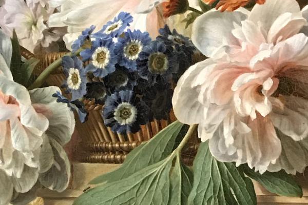 Corbeille et vase de fleurs(1785) – Gérard Van Spaendonck_ – Museo de la Vida Romántica de París